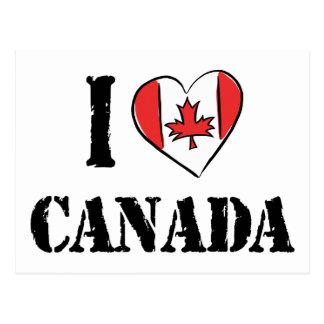 Amo Canadá Postales