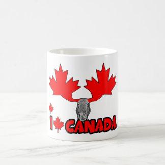 Amo Canadá Taza Básica Blanca