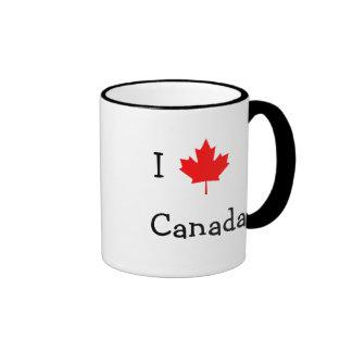 Amo Canadá Taza De Dos Colores