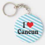 Amo Cancun, México Llavero Redondo Tipo Pin