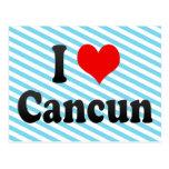 Amo Cancun, México Tarjeta Postal