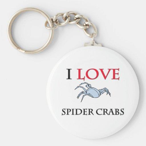 Amo cangrejos de araña llaveros