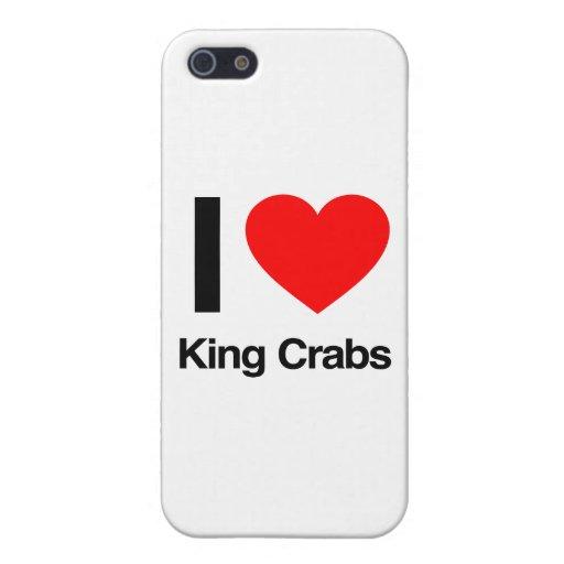 amo cangrejos de rey iPhone 5 fundas