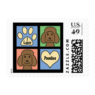 Amo caniches timbre postal