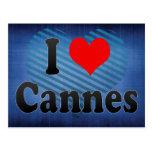 Amo Cannes, Francia Tarjetas Postales