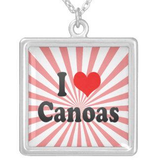 Amo Canoas, el Brasil. Eu Amo O Canoas, el Brasil Colgante Personalizado