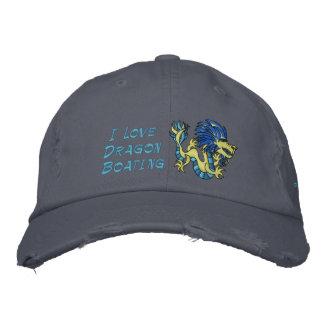 Amo canotaje del dragón gorras de beisbol bordadas