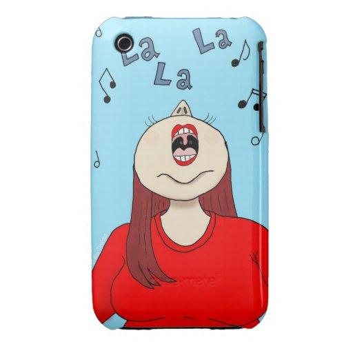Amo cantar el caso del iPhone 3 Case-Mate iPhone 3 Cobertura