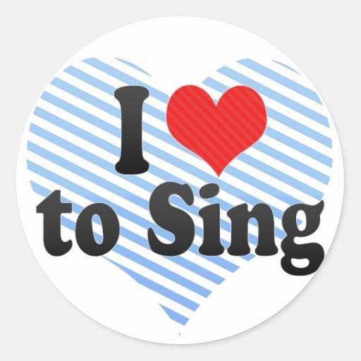 Amo cantar etiquetas