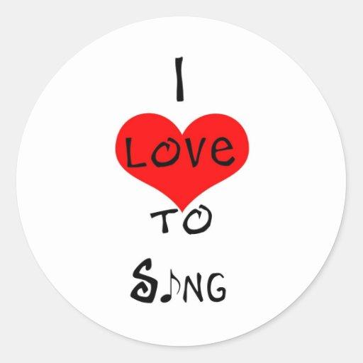 Amo cantar etiquetas redondas