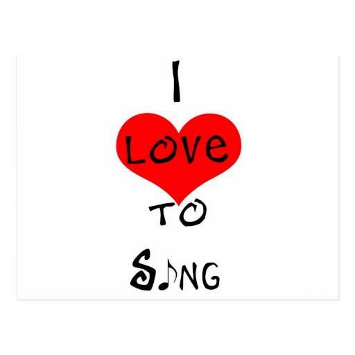 Amo cantar postal