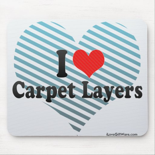 Amo capas de la alfombra tapete de ratón