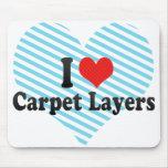 Amo capas de la alfombra tapetes de ratones