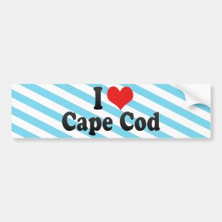 Amo Cape Cod Pegatina De Parachoque