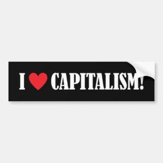 ¡Amo capitalismo! Pegatina De Parachoque