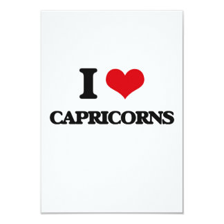 "Amo Capricorns Invitación 3.5"" X 5"""