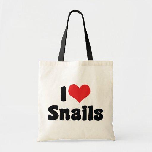 Amo caracoles bolsas de mano