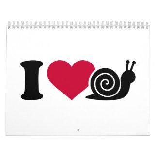 Amo caracoles calendarios de pared