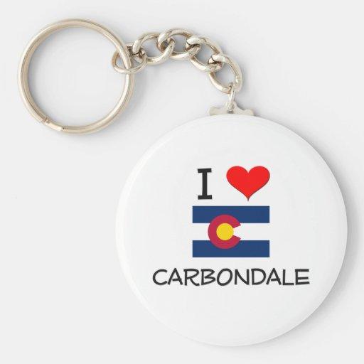 Amo CARBONDALE Colorado Llaveros