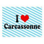 Amo Carcasona, Francia Tarjetas Postales