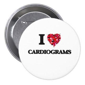 Amo cardiogramas pin redondo 7 cm