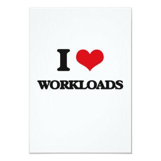 """Amo cargas de trabajo invitación 3.5"""" x 5"""""""