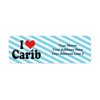 Amo Carib Etiqueta De Remitente