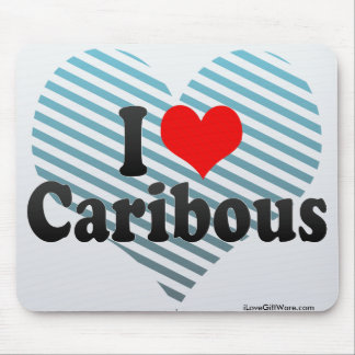 Amo caribúes tapetes de ratón