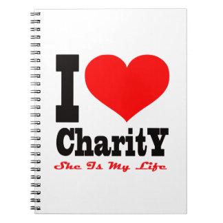 Amo caridad Ella es mi vida Cuaderno