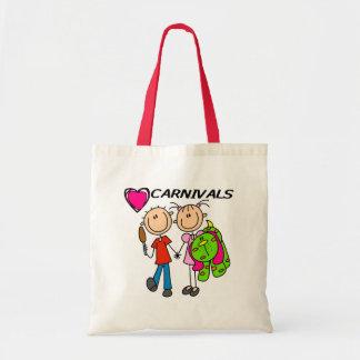 Amo carnavales bolsa tela barata