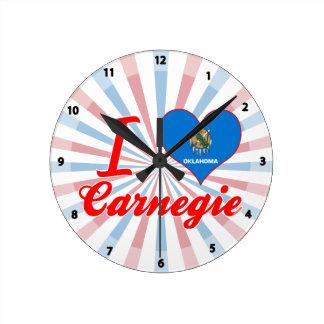 Amo Carnegie Oklahoma Relojes De Pared
