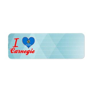 Amo Carnegie, Oklahoma Etiquetas De Remite