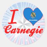 Amo Carnegie, Oklahoma Etiquetas Redondas