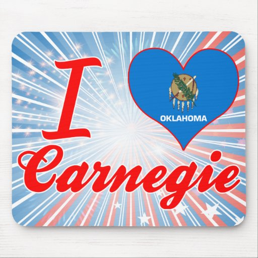 Amo Carnegie, Oklahoma Tapetes De Raton