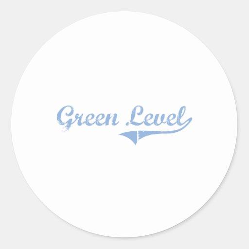 Amo Carolina del Norte llana verde Pegatina Redonda