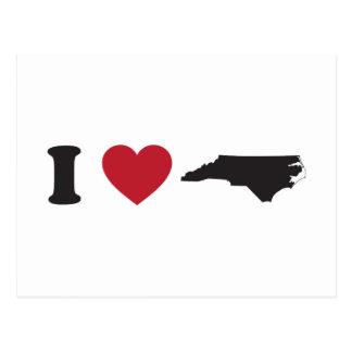 Amo Carolina del Norte Postal