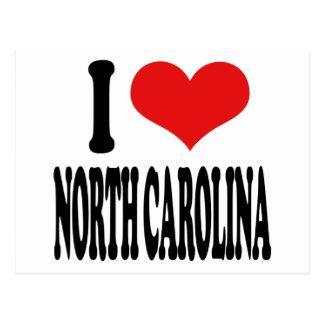 Amo Carolina del Norte Postales