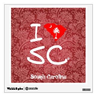 Amo Carolina del Sur (la etiqueta del vintage)