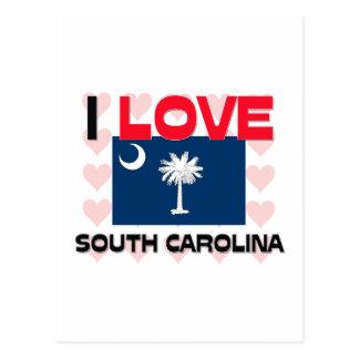 Amo Carolina del Sur Tarjeta Postal