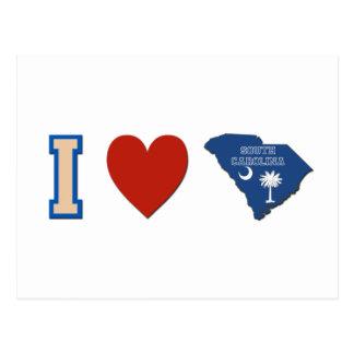Amo Carolina del Sur Tarjetas Postales