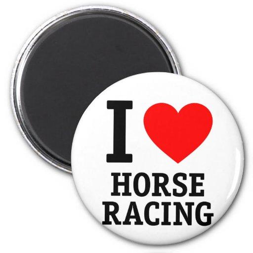 Amo carrera de caballos imán para frigorífico
