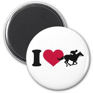 Amo carrera de caballos imán redondo 5 cm