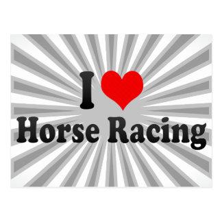 Amo carrera de caballos tarjetas postales