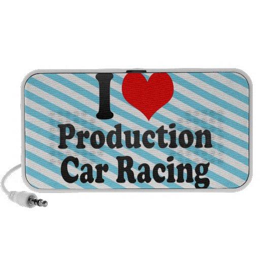 Amo carreras de coches de la producción altavoz de viajar