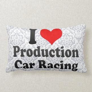 Amo carreras de coches de la producción almohada