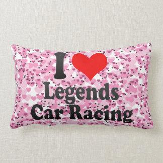 Amo carreras de coches de las leyendas cojin