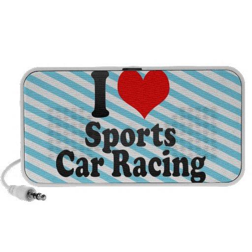 Amo carreras de coches de los deportes portátil altavoz