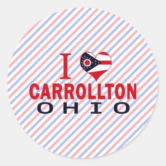 Amo Carrollton Ohio Etiquetas Redondas