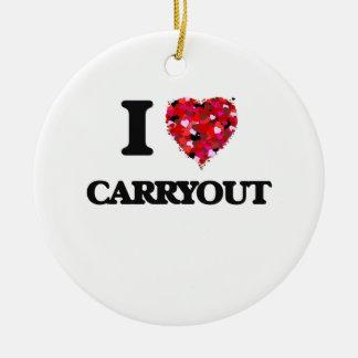 Amo Carryout Adorno Redondo De Cerámica