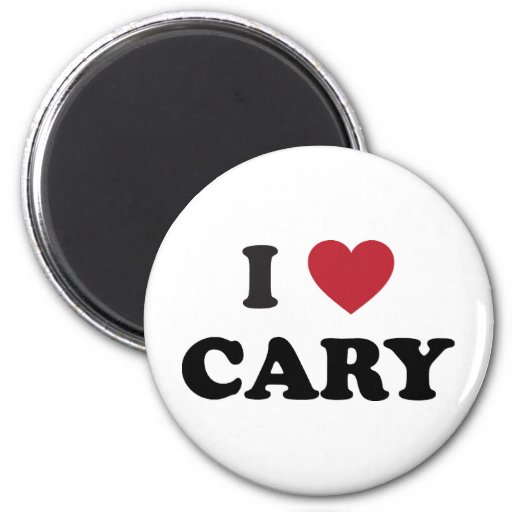 Amo Cary Carolina del Norte Imán Redondo 5 Cm